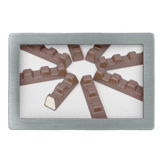 Milk chocolate bars belt buckles