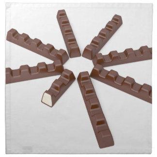 Milk chocolate bars napkin