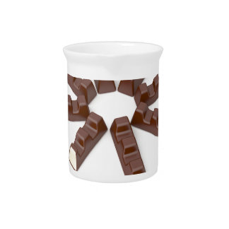 Milk chocolate bars pitcher