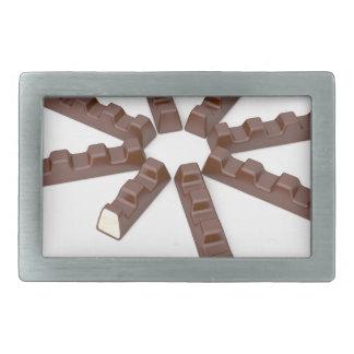 Milk chocolate bars rectangular belt buckle