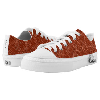 Milk Chocolate Woven Pattern Low Top Canvas Shoes