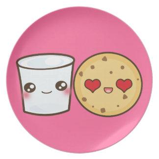 Milk Cookies Couple Dinner Plates