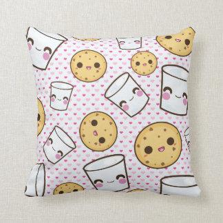 Milk Cookies Throw Pillows