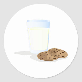 Milk & Cookies Round Sticker