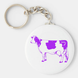 Milk Cow Silhouette Beef Cattle Moo Bull Steer Keychains