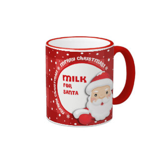 Milk for Santa Claus Christmas Gift Mugs