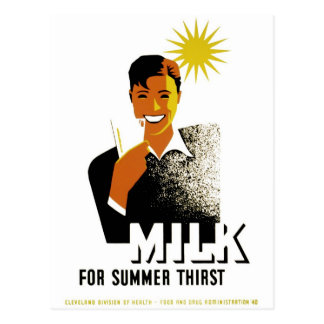 Milk for Summer Thirst Post Card