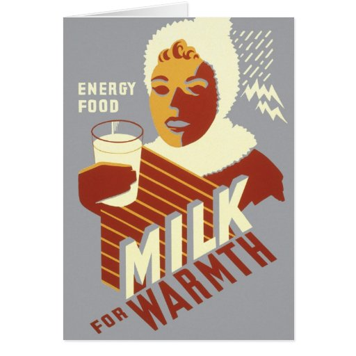 Milk for Warmth Greeting Cards