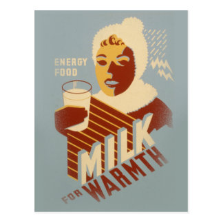 Milk for Warmth Postcard