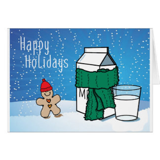 """Milk & Ginger"" Funny Snow Holiday Card"