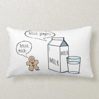 Milk & Ginger Quirky White Lumbar Cushion