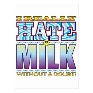 Milk Hate Face Postcard