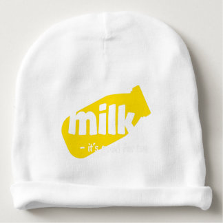 Milk - it's good for me baby beanie