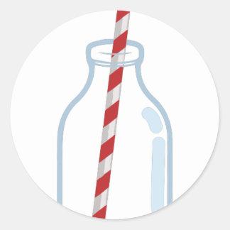 Milk Jug Round Sticker