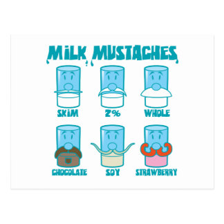 Milk Mustaches Postcard
