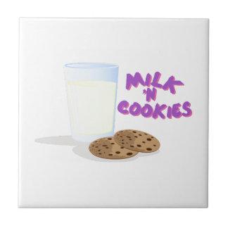 Milk N Cookies Small Square Tile