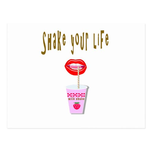Milk shake postcards