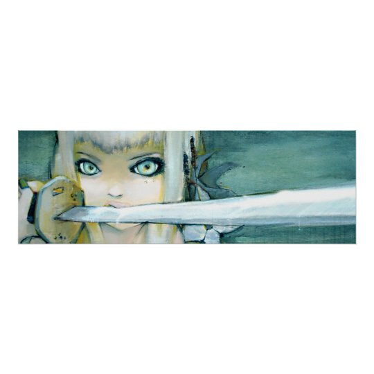 Milk Thistle Ninja Girl Art Poster