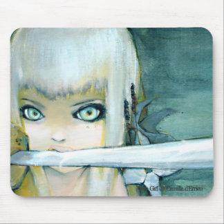 Milk Thistle Ninja Girl Mousepad