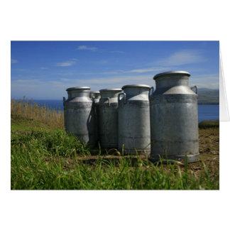 Milk urns card