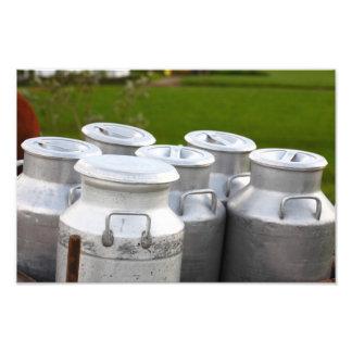 Milk urns photographic print