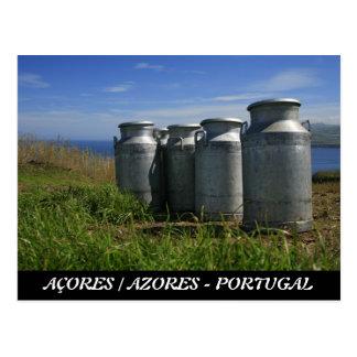 Milk urns postcard