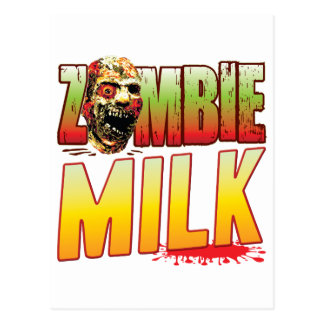 Milk Zombie Head Postcard