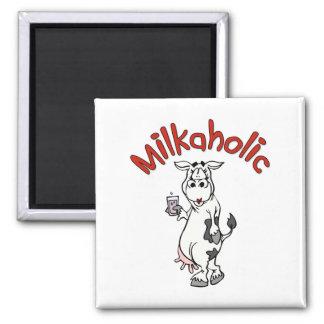 Milkaholic Square Magnet
