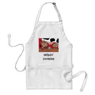 Milkin' Cookies Milk and Cookies Design Adult Apron