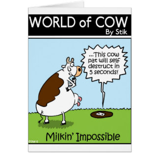 Milkin' Impossible Card