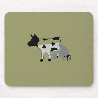 Milking Cow - Half Full Mousepad