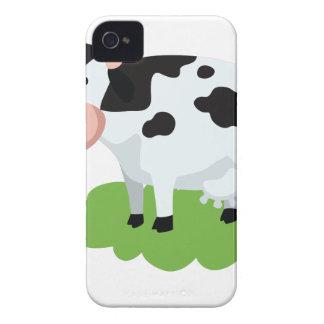 milking cow in the garden iPhone 4 cases