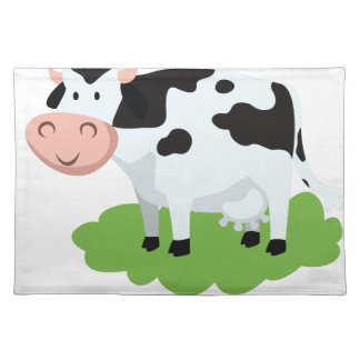 milking cow in the garden placemat
