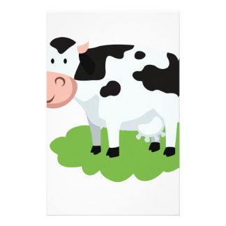 milking cow in the garden stationery