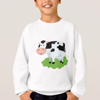 milking cow in the garden sweatshirt