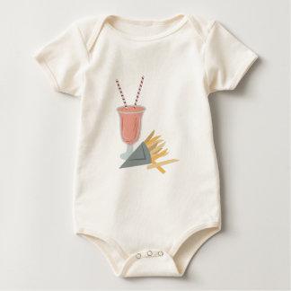 Milkshake & Fries Baby Bodysuits