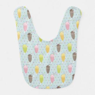Milkshake Pattern Baby Bibs