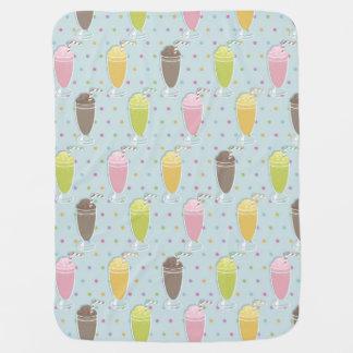 Milkshake Pattern Swaddle Blanket