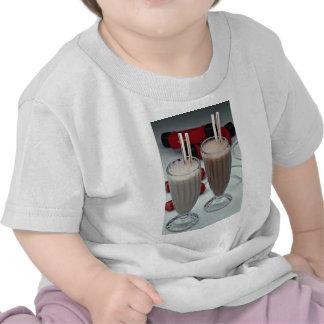 Milkshakes in glass tumblers tee shirt