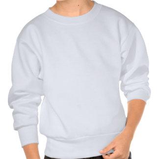 Milkshakes in glass tumblers pullover sweatshirt