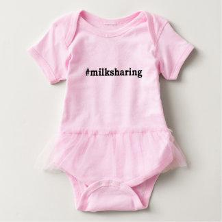#milksharing black writing baby bodysuit