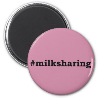#milksharing black writing magnet