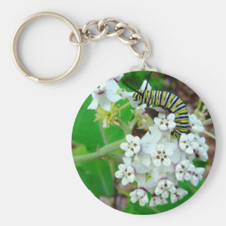 Milkweed and Monarch Key Ring
