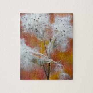 Milkweed seeds in autumn, Canada Jigsaw Puzzle
