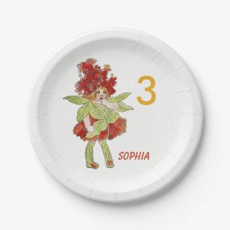 Milkweed Vintage Cute Flower Child Little Girl Kid Paper Plate