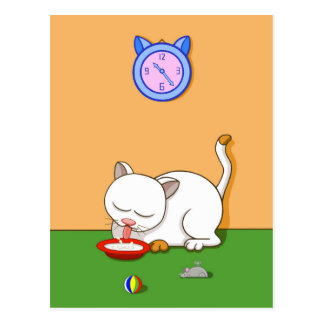 Milky Cat Postcard