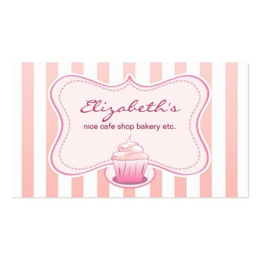 milky cupcake business card