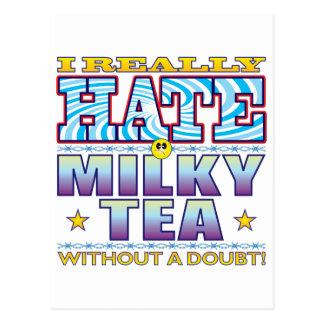 Milky Tea Hate Face Postcard