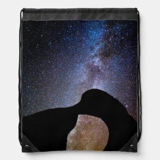 Milky way at night, California Backpack