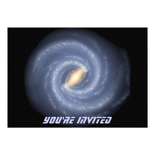 Milky Way Galaxy Invitations